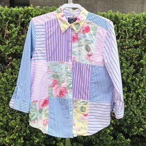 American Living Patchwork Shirt Size XL
